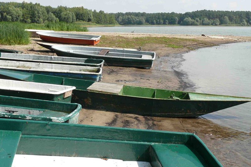Boote am Borker See